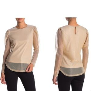 NSR Ruched Long Sleeve Blouse